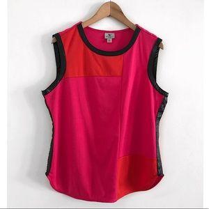 Worthington sleeveless Top blouse shirt size XL